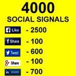 4000 Social Signals