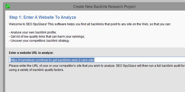 Enter URL to analyse top rankers backlinks