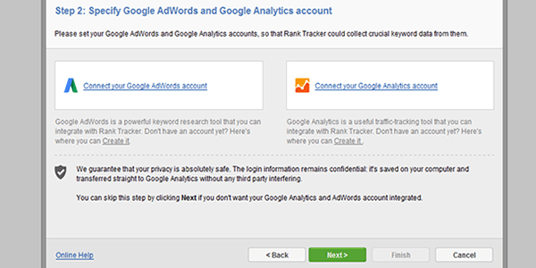 You can add your Adwords account details for keyword research
