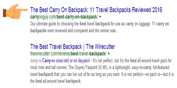 The exact match keyword at the beginning of the TITLE TAG is more powerful
