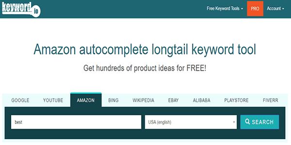 Use Keyword.io to find Amazon buying keywords