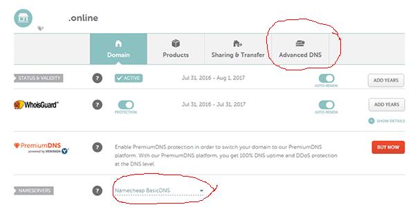 Make sure that you use Namecheap BasicDNS service