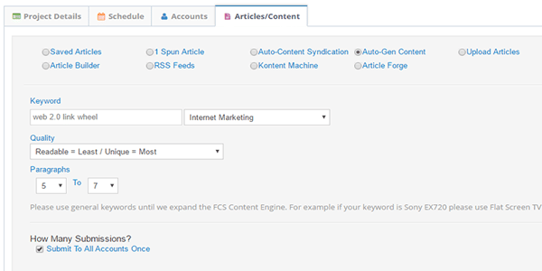 Add Content For The Link Wheel
