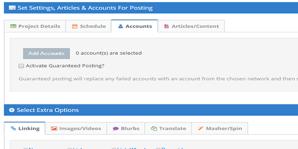 Add Your Web 2 Accounts For Link Wheel