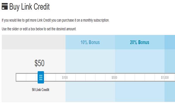 Buy Link Credit