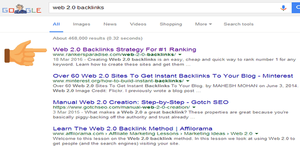 This page is now ranked no. 1 on Google search using just web 2.0 backlinks