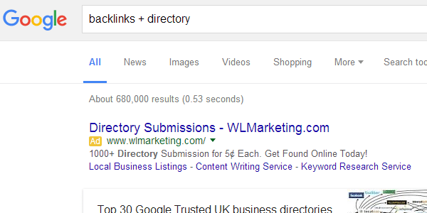 Get some free directory backlinks if you can