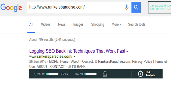 Add your web 2 URL into Google search to check if it has been indexed