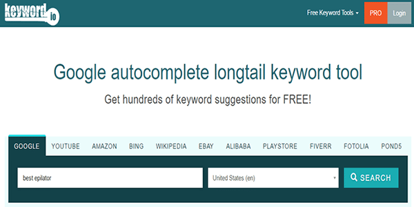 Now search for your blog titles using keyword.io
