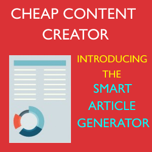 Introducing the Smart Article Generator content creator software