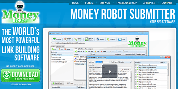 The Money Robot software is very effective at building Web 2.0 backlinks