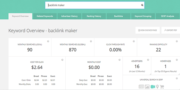 Money Robot Link Building Tool