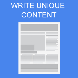 You are going to write unique content yourself