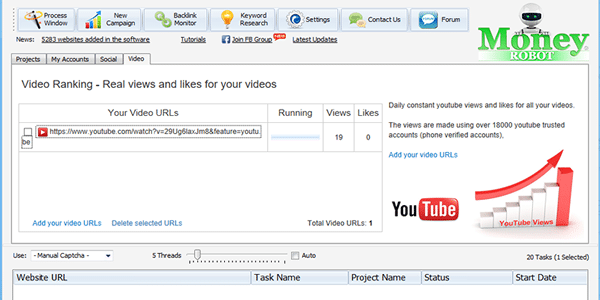 Get YouTube views and like on complete autopilot