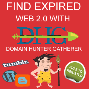Find expired Web 2.0 blogs with Domain Hunter Gatherer