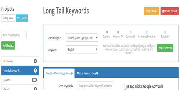 Select language and search engine to use