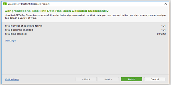 Backlink Data Collected Successfully