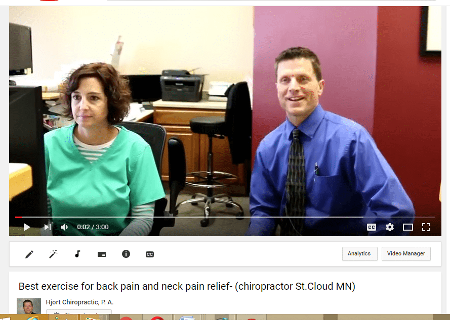 Back pain youtube video that I ranked number one