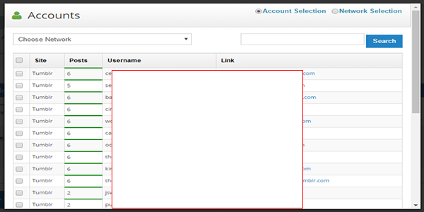 Select Web 2.0 Accounts