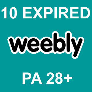 10 Expired Weebly PA 28 Plus