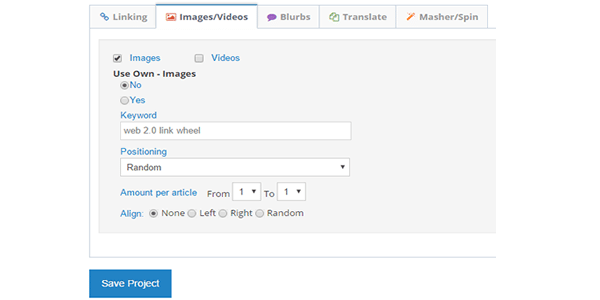 Add Images and Videos Into The Link Wheel