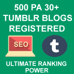 Register 500 High PA Tumblr Blogs