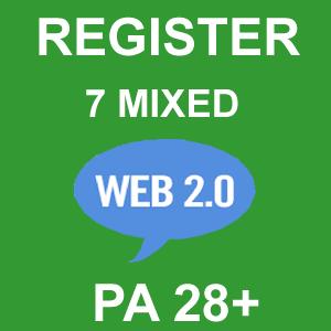 Register 7 Mixed Web 2.0 Blogs PA 28 Plus