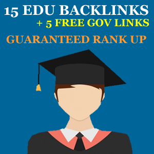 Buy 15 Edu Backlinks and 5 Free Gov Backlinks