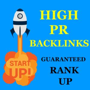 High PR Backlinks List To Rank Top of Google