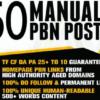 50 Manual PBN Backlinks