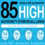 Rankers Delight 85 Unique  DA 90 TO DA 50 Backlinks