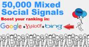 RANKERS MEGA SOCIAL SIGNALS PACKAGE 50,000