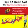 High DA Guest Post DowntownMiami.com DA 50