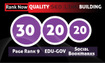 Rankers Power Seo 60 Backlinks Pack EDU Bookmarks and HIGH AUTHORITY LINKS